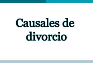 causales divorcio